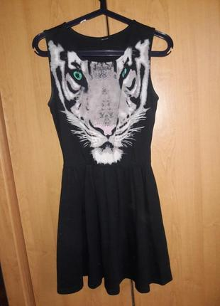 Платье, сарафан с тигром