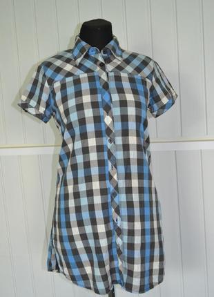 Рубашка-туника в клетку