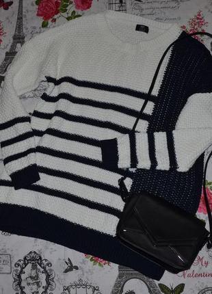 Модный свитер крупной вязки оверсайз f&f 16-18 размер