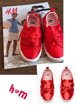 Тенниски h&m ярко красного цвета 25р