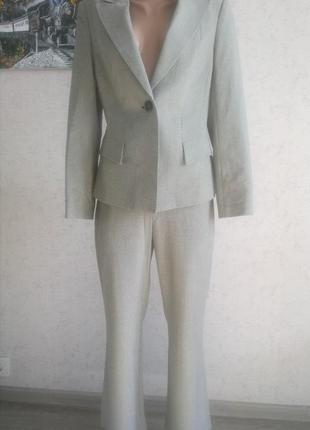 Eur 40/12 классический брючный костюм,жакет на одну пуговицу,брюки next petite