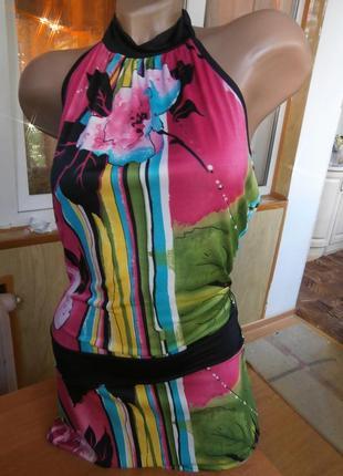Яркая/классная туника или короткое платье/вискоза