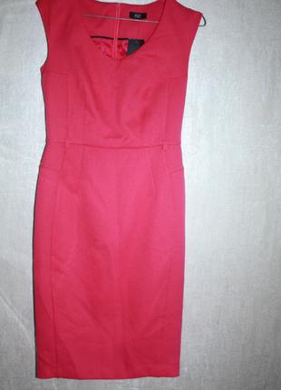 Новое с биркой платье-карандаш футляр малиновое фактурное f&f (к030)