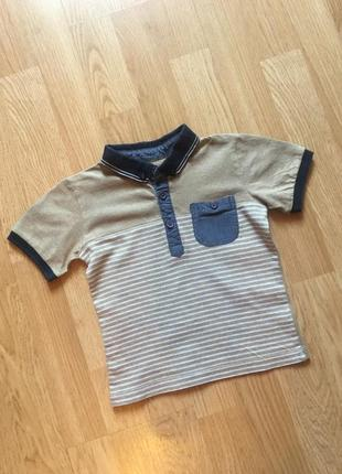 Фирменная футболка - поло для мальчика h&m, размер 86-92