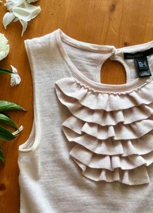 Блуза с коротким рукавом от mango