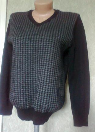 Шерстяной свитер*пуловер*100%шерсть  ragman