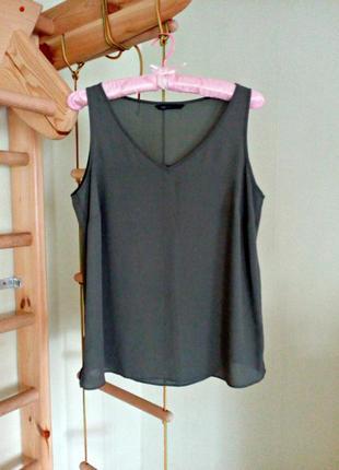 Легкая базовая блуза хаки 14