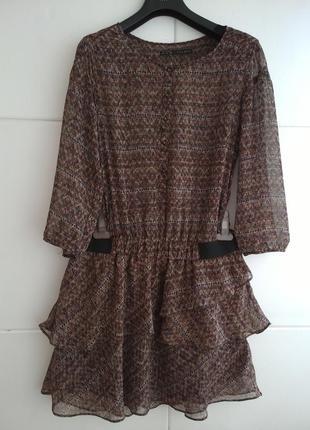 Короткое платье zara из струящейся ткани
