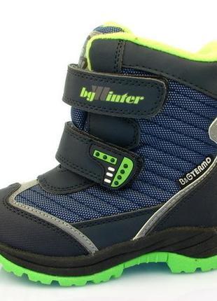 Новинка 2018! детская зимняя обувь термо-ботинки для мальчика, b&g, размеры 23-28