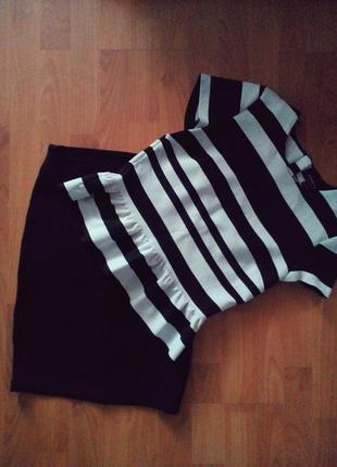 Юбка блуза