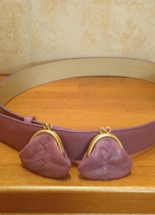 Женский кожаный пояс bottega veneta