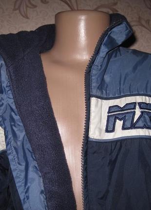 Куртка- ветровка детская (подростковая), на флисе. на рост 104 см. by kappane.