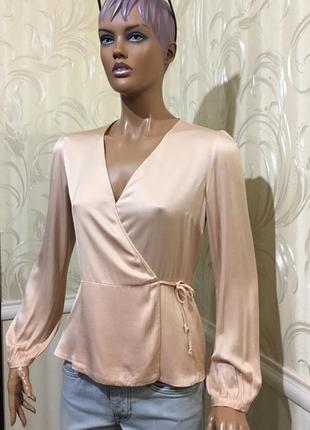 Блуза на запах, zara, размер м