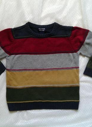 Вязанный свитер на мальчика 4-6 лет школьный