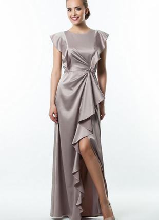 Вечернее шикарное атласное платье, размер s-m