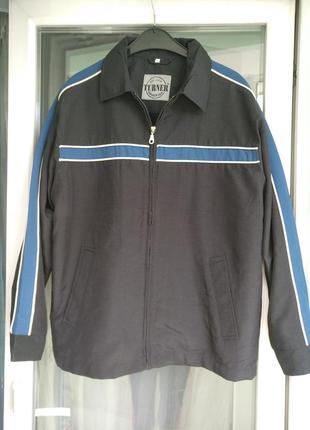 Куртка-ветровка turner германия, разм l, мужская, крупному полненькому парню