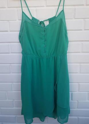 Легкий летний сарафан цвет тифани платье плаття сукня