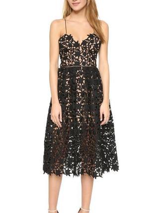Кружевное коктейльное вечернее платье миди