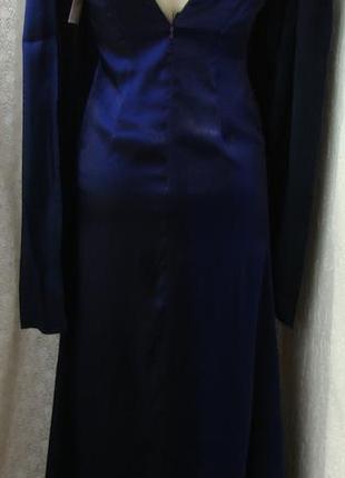 Платье женское коктейльное вечернее в пол бренд c&s р.40 №6314
