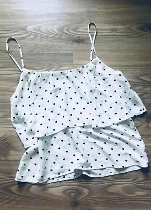 Шифоновая маечка-блузка h&m