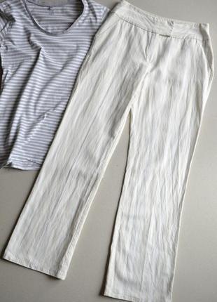 Летние прямые брюки р.l вискоза лён jessica (c&a)