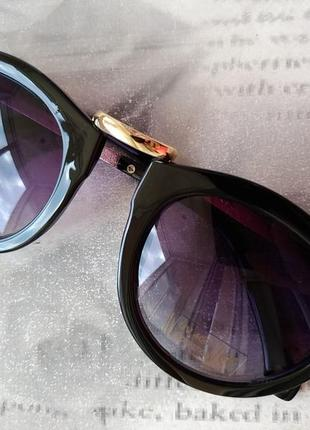 Уценка солнцезащитные женские глянцевые очки линзы градиент uv400