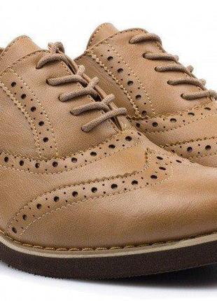 Коричневые туфли лоферы оксфорды ботинки оксфорды ботинки лоферы 38 39