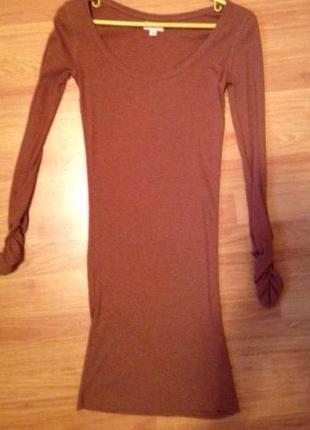 Облегающее платье в рубчик new look
