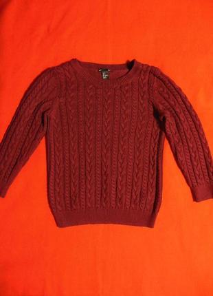 Кофта свитер с косами от h&m