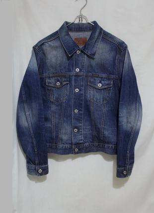 Джинсовая куртка в ржавых пятнах *energie sixty* 48-50р