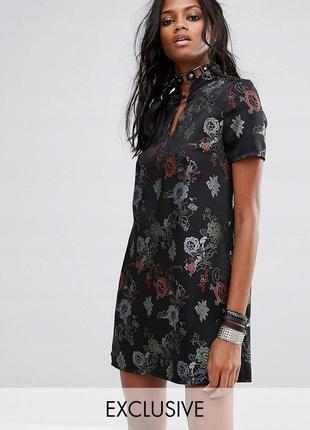 Reclaimed vintage стильна жаккардова сукня з принтом