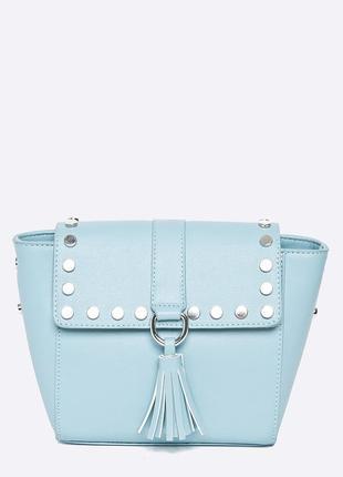 Нежно голубая сумка  medicine. сумочка кросс-боди с кисточкой