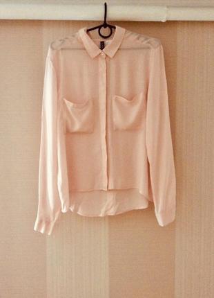 Блузка пастельно- рожевого кольору