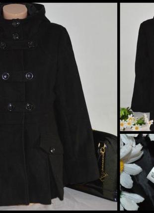 Брендовое демисезонное пальто полупальто с капюшоном и карманами  internacionale1 ... b30e36d061654