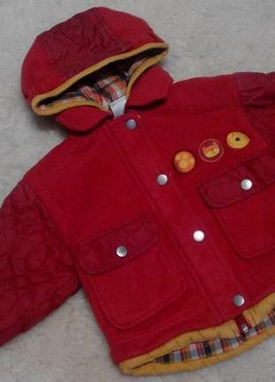Демисезонная куртка baby club на девочку 12-18 месяцев