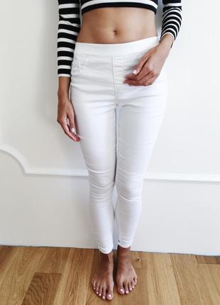 George белые джинсы джеггинсы