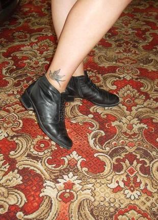 Классные демисезонные жен. ботиночки из натуральной кожи!