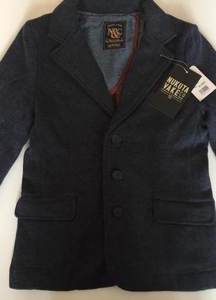 Классный пиджак майорал, теплий,140см.