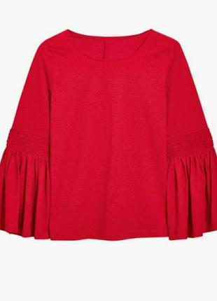 Красивая блуза с трендовыми рукавами клёш/блузка next