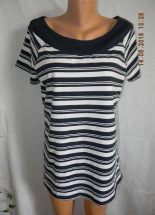 Новая блуза-футболка в полоску  большого размера next