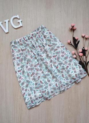 Разноцветная шифоновая юбка на резиночке