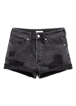 Короткие шорты h&m с высокой талией
