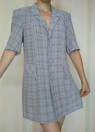 Пиджак рубашка из ситца в клетку dimols