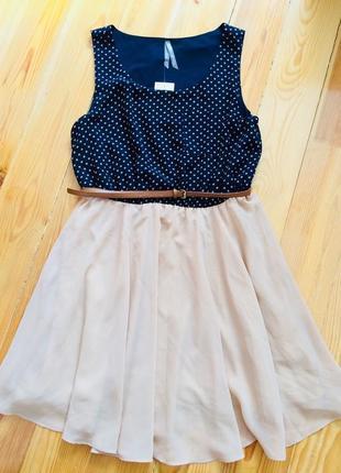 Красивое летнее платье в горошек new look