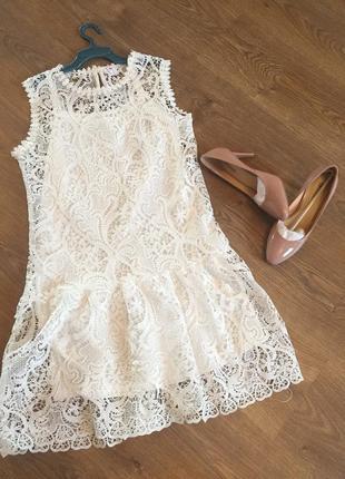 Стильное белое платье костюм блуза