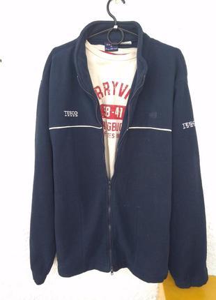 Теплая кофта свитер толстовка tesco xl мужская