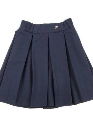 Smil смил качественная школьная юбка, темно-синяя, р.150-158 см