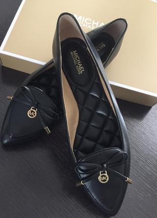 Брендовые стильные туфли- балетки michael kors