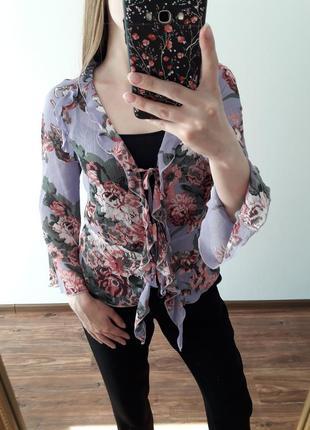 Трендовая кофточка/ накидка в цветы