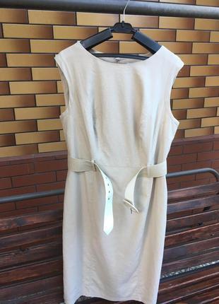 Большой размер классное льняное платье-футляр marks&spencer marks & spencer